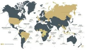 Map of conservation projects