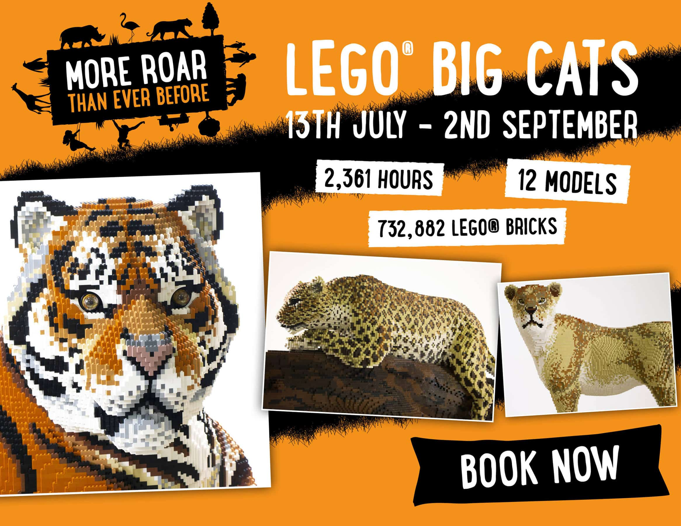 Lego Big Cats Mobile Banner